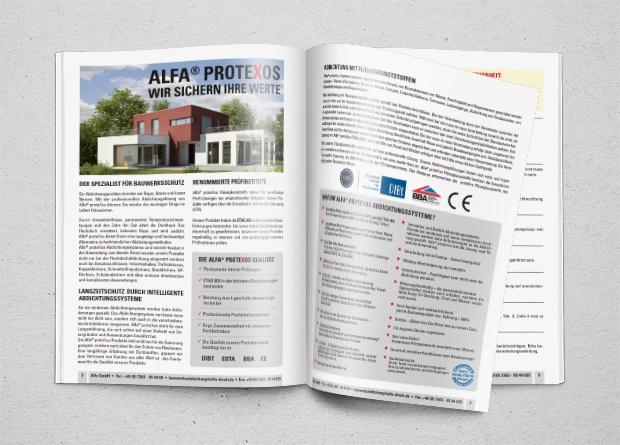 Infomappe Abdichtung mit Alfa proteXos
