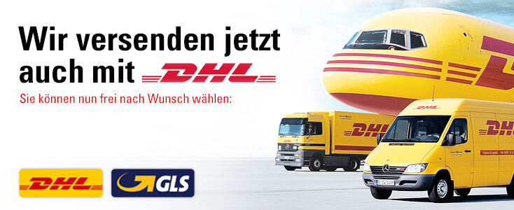 Versand jetzt auch mit DHL