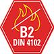 B2 normal entflammbar