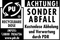 Kostenlose Entsorung leerer PU-Schaum-Dosen durch PDR