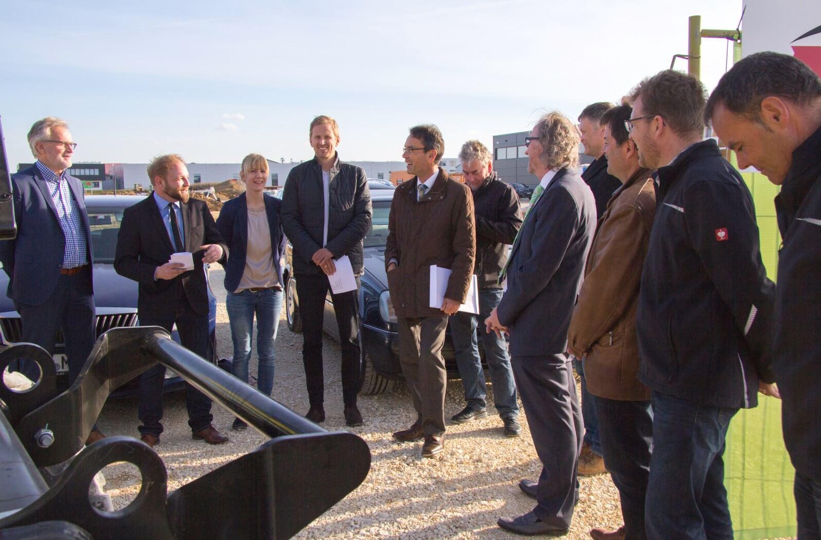 Im Gespräch mit dem Oberbürgermeister Karl Hilsenbek