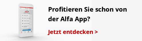Die Alfa App! Nie war bestellen einfacher