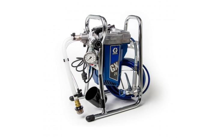 Original Graco Airless-Spritzgerät zur Verarbeitung von wasserbasierenden und lösemittelhaltigen Anstrichmittel im Innen- und Außenbereich.