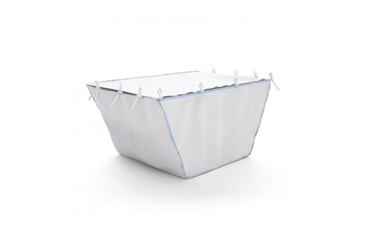 Polypropylen-Sack mit Absetzmulde für einen Container. Ideal für die Entsorgung mit dem LKW.