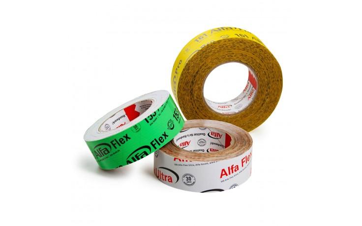 Alfa luft- und winddichtes Verkleben Set zum Testen unserer Klebebänder für das wind- und luftdichte Verkleben.