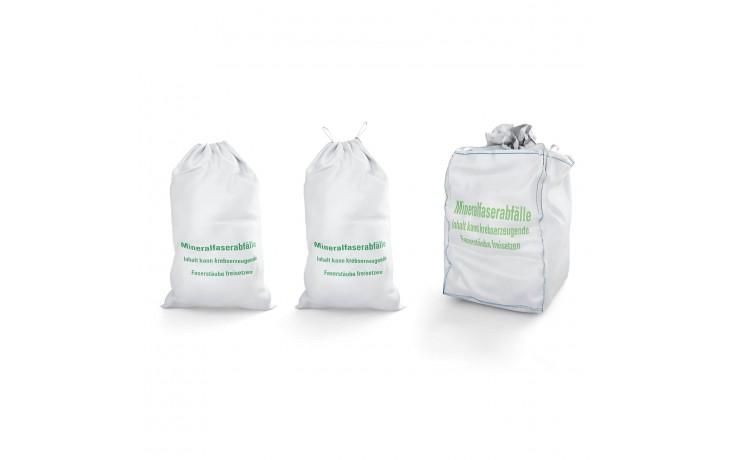 Mineralwollsäcke Set für ihre Mineralfaserabfälle