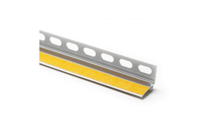 Robuste, selbstklebende Hart-PVC Anputzleiste mit Einputzschenkel