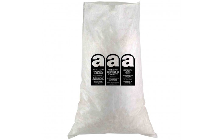 Stabiler LDPE Sack ideal zur Entsorgung von kleineren Mengen Asbest