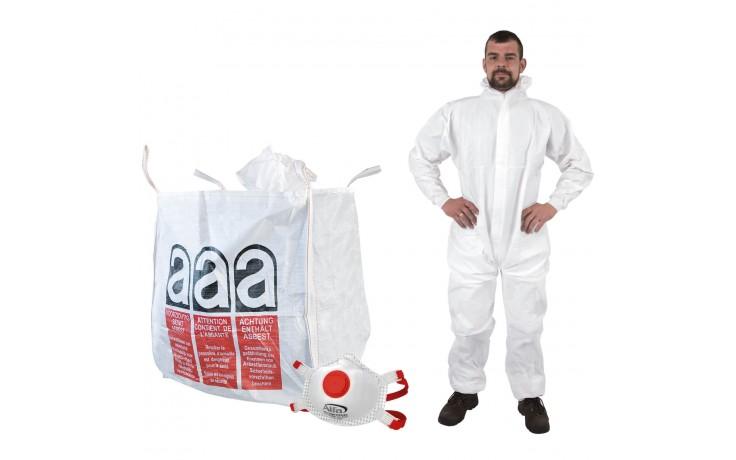 Asbest Schutzset - BigBags, Feinstaubmasken & Schutzanzüge