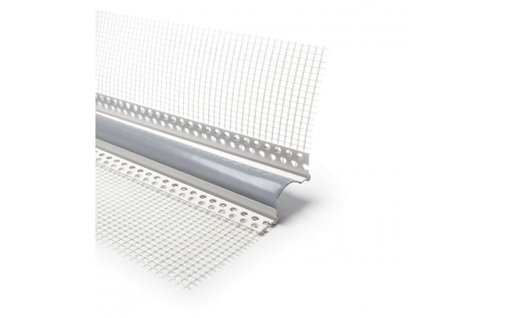 Schlagzähes Dehnfugenprofil mit gerillten PVC-Schenkeln und Abzugskanten