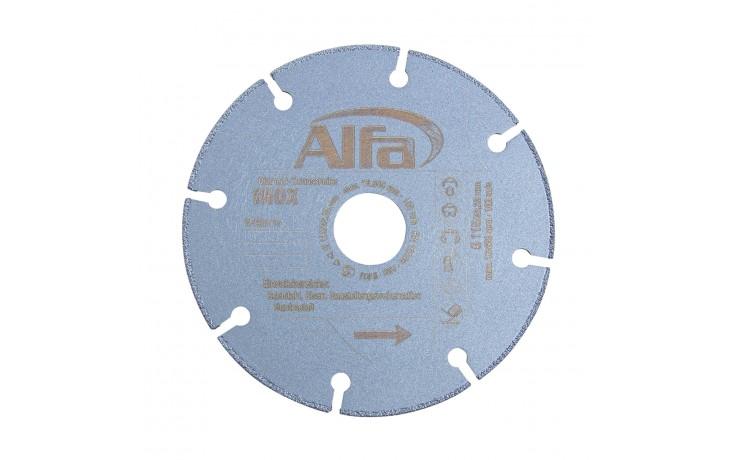 Hochwertige, bruchsichere INOX-Stahl-Trennscheibe mit vakuum-gelöteter Diamantbeschichtung