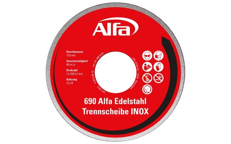 690 Alfa Edelstahl Trennscheibe (INOX) - Robuste Gewebe-Trennscheiben in luftdichter Spenderbox