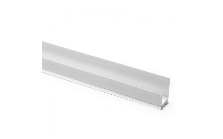 Ungleichschenkliges, selbstklebendes Hart-PVC Einfassprofil mit Lippe