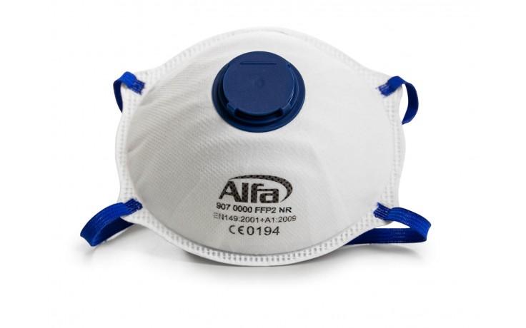 Hochwertige FFP2 Feinstaubmaske mit Ventil und weicher Nasenauflage