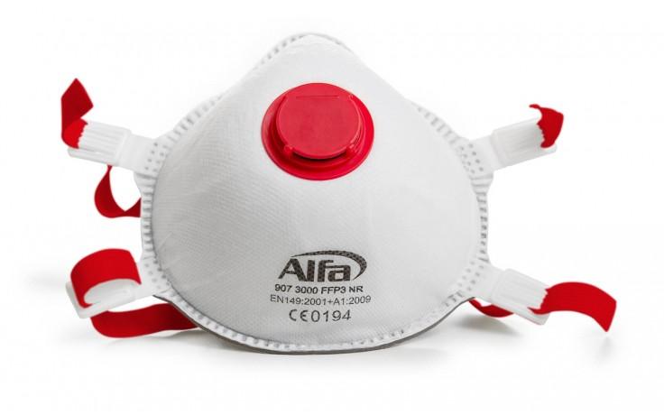 Feinstaubmaske FFP3 für Schleif- und Lackierarbeiten sowie beim Umgang mit Asbest- und Mineralfasern