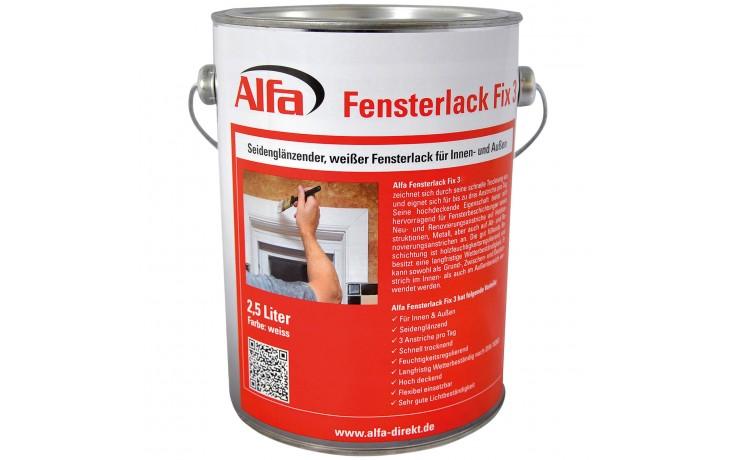 781 Alfa Fensterlack Fix 3 für bis zu drei Anstriche pro Tag.