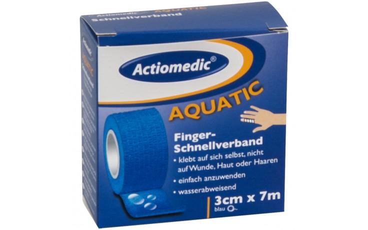 Wasserfester, selbstklebender Finger-Schnellverband für die schnelle Versorgung von Wunden und Fingerverletzungen.