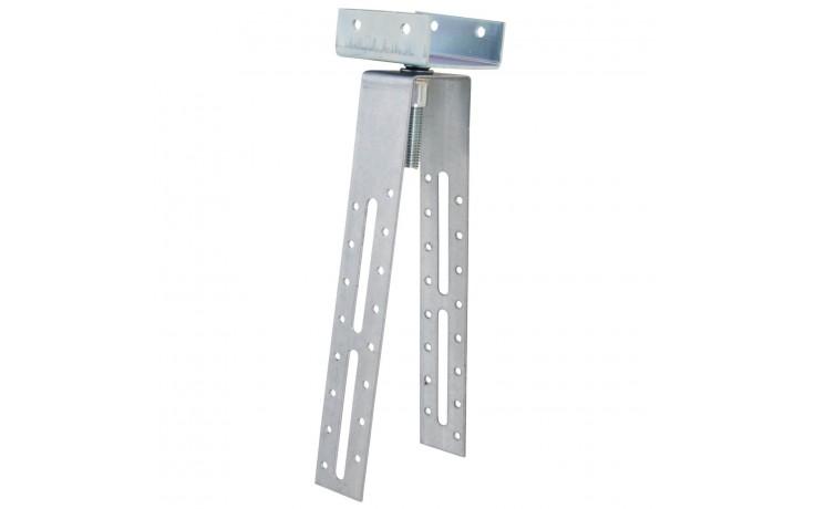 Universell verstellbare First- und Gratlattenhalter für ein Exaktes Montieren und Ausrichten der First- und Gratlatte auf dem Sparren bzw. der Schalung.
