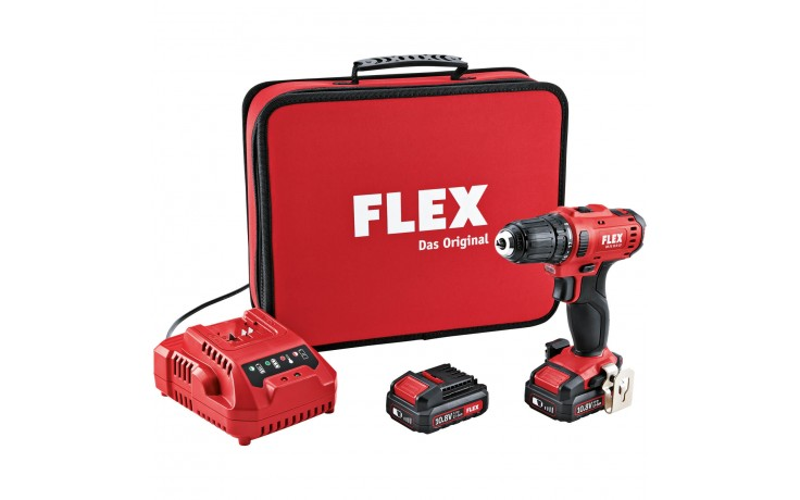 Original FLEX 10,8 V, 2-Gang Akku-Bohrschrauber