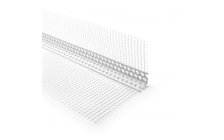 Hart-PVC-Eck-Leiste mit beidseitigen WDVS-Gewebe