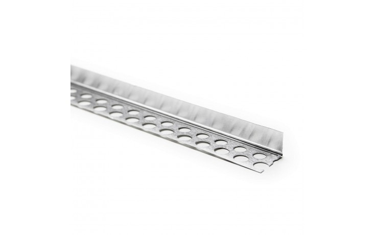 Glattes, einseitig gelochtes, dünnes Aluminium-Abschlussprofil