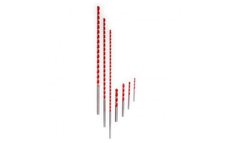 Allesbohrer mit 4-fach Stufenprofil zum Drehboren in Fliesen, Mauerwerk, Metall, Holz & Kunststoff, sowie auch zur Fenstermontage geeignet.