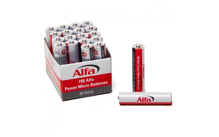 Power Micro-Batterien (AAA) mit hoher Leistung und Lebensdauer für Geräte mit einem hohen Energiebedarf.