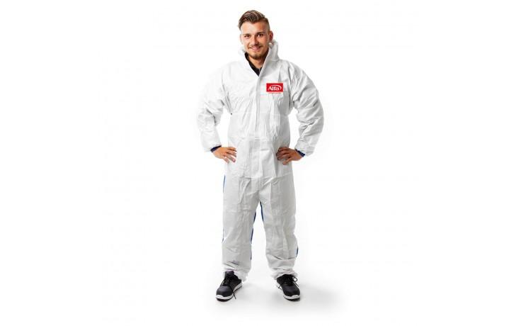 Premium Chemieschutzoverall mit elastischen Bändchen an den Knöcheln