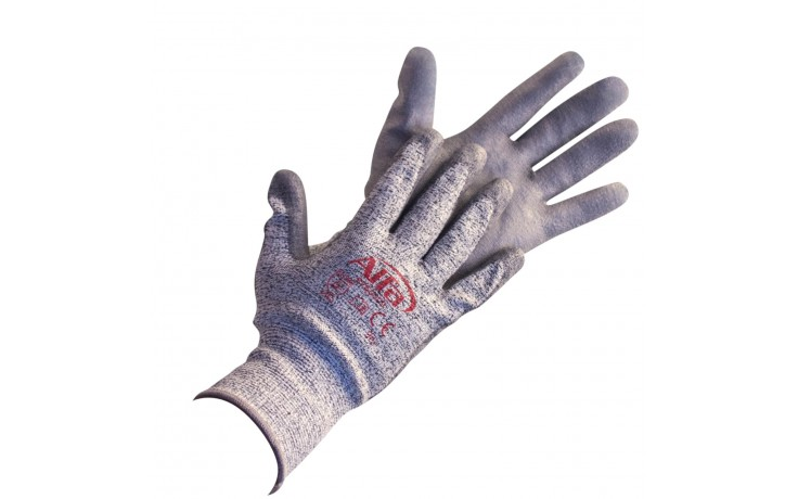 PU-Handschuh mit exzellenten Schnittschutzeigenschaften ideal für Arbeiten mit scharfkantigen Gegenständen oder Materialien.