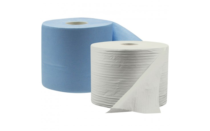 Putztuchrollen ECO - saugstarke und 2-lagig verleimte Putztücher