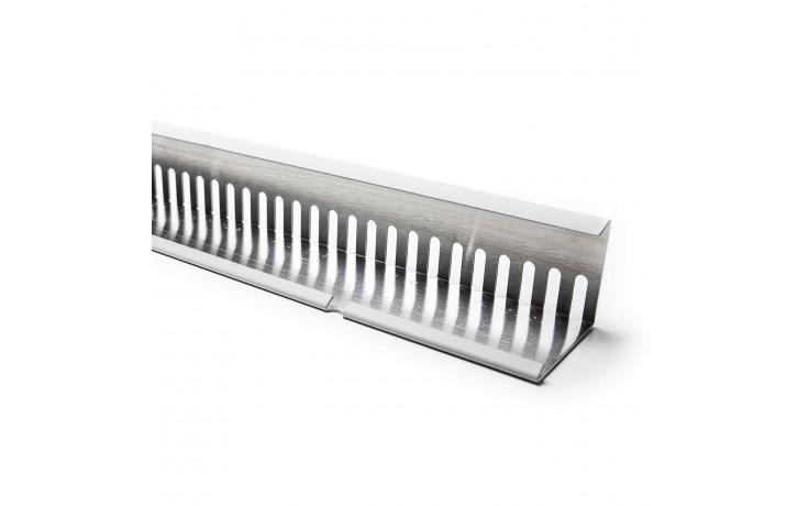 Hochwertige Aluminium Kiesfangleiste mit PVC-Beschichtung inkl. Stoßverbinder für Flachdächer mit Bekiesung oder Begrünung.