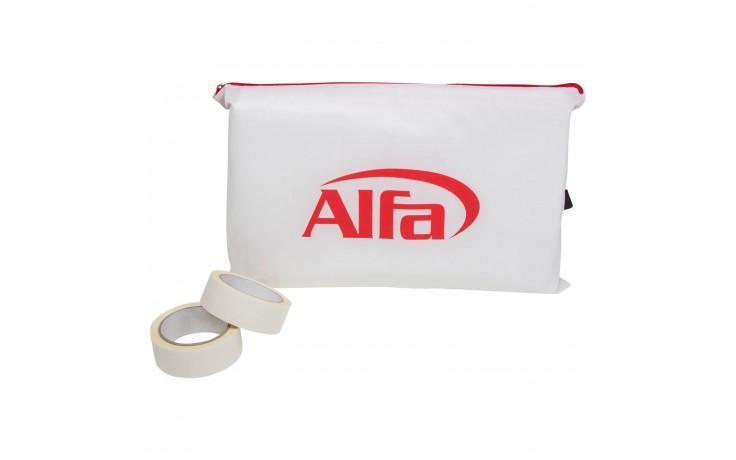 Alfa Staubschutzwand in praktischem Transportbeutel inklusive Klebebänder zum Befestigen