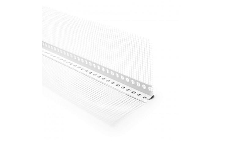 Hart-PVC-Leiste mit beidseitigen WDVS-Gewebe und Tropfkante