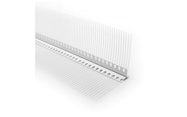 Hart-PVC- Leiste mit beidseitigem WDVS-Gewebe und sichtbarer Tropfkante