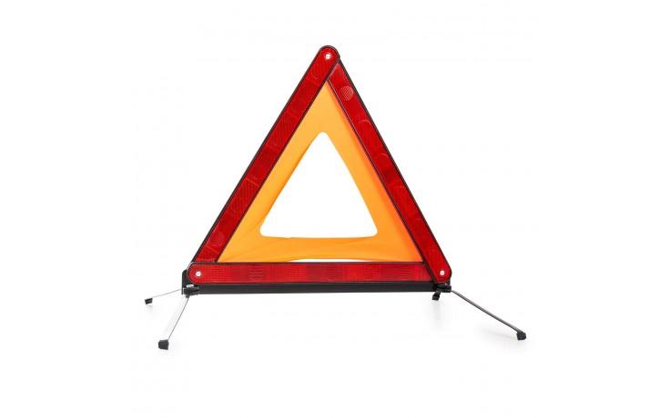 Warndreieck zum Warnen anderer Verkehrsteilnehmer vor Unfall- oder Pannenstellen.