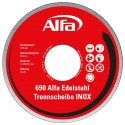 690 Alfa Edelstahl Trennscheibe (INOX) (Gewebe-Trennscheiben)