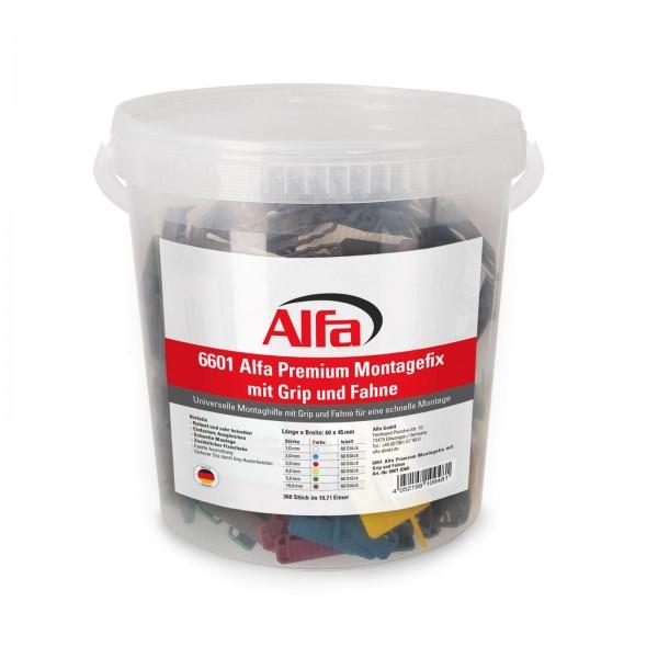 6601 Alfa Premium Montagefix mit Grip und Fahne