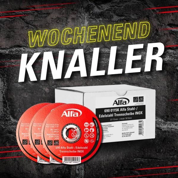 Alfa Stahl-/ Edelstahl-Trennscheibe (INOX)