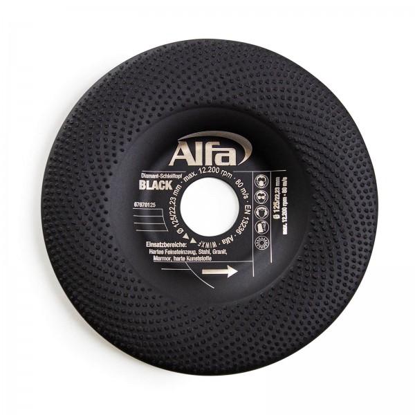 6767 Alfa Diamant-Schleiftopf BLACK
