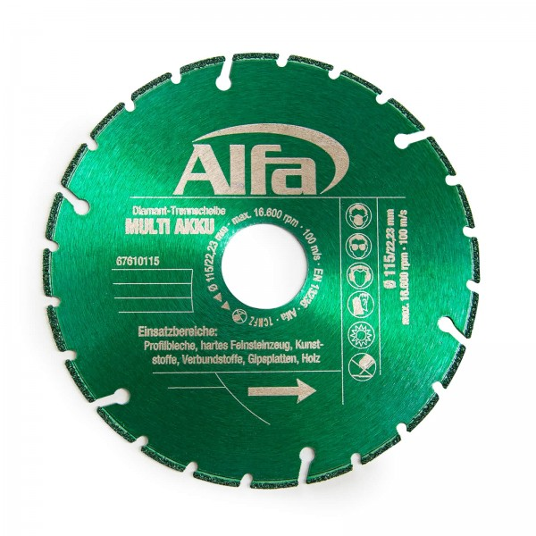 6761 Alfa Diamant-Trennscheibe MULTI AKKU