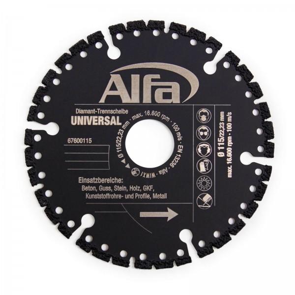 6760 Alfa Diamant-Trennscheibe UNIVERSAL