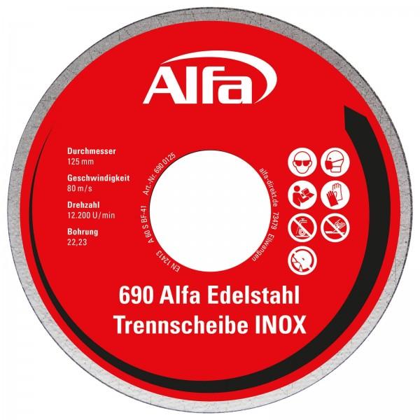 690 Alfa Stahl-/ Edelstahl-Trennscheibe (INOX)