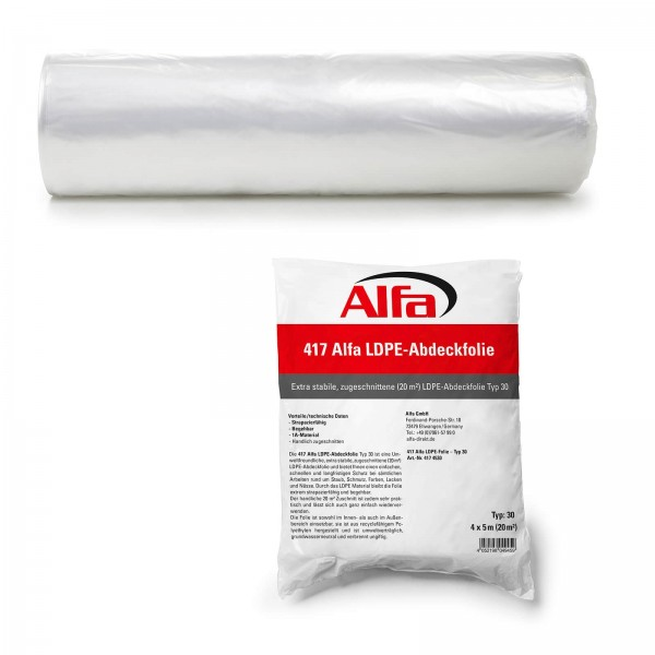 417 Alfa LDPE-Abdeckfolie