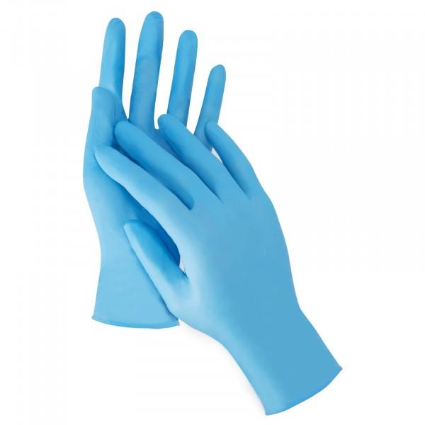 766 Alfa Nitril-Einweghandschuhe blau
