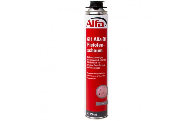 Alfa B1-Pistolenschaum schwer entflammbarer Bauschaum für erhöhten Brandschutz bei Elektroinstallation WDVS