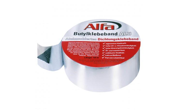 Alfa Butylband ALU, alukaschiertes Butylband, Alubutyl, Dichtband