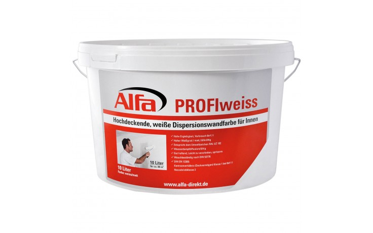 782 Alfa PROFIweiss hochdeckende Dispersionswandfarbe
