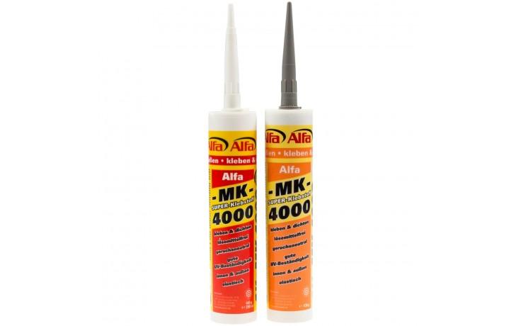 Alfa MK 4000 ist ein pastöser, fugenfüllender Dicht-Klebstoff für den Innen- und Außenbereich
