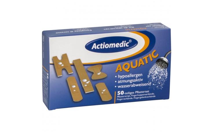 Wasserfestes, zuverlässiges Pflasterset mit allen wichtigen Pflastern für eine schnelle Wundversorgung.