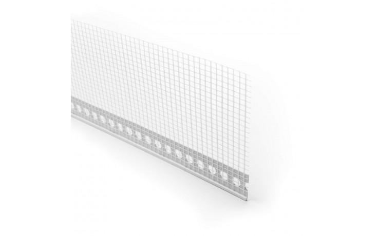 Hochwertige PVC-Abzugskante mit angebrachtem WDVS-Gewebe